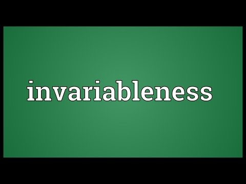 Header of invariableness