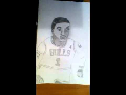 Derrick Rose Drawing Step by Step How to Draw Derrick Rose