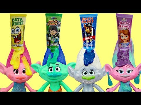 Dreamworks TROLLS Bath Time Paint with Orbeez Magic  Bubbles  Poppy  amp  Branch