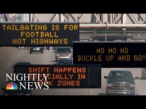Highway Humor Is Officials' New Trick To Encourage Safer Driving | NBC Nightly News