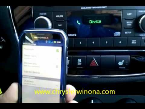 Pair A Uconnect 130 Radio To Cell Phone Youtube