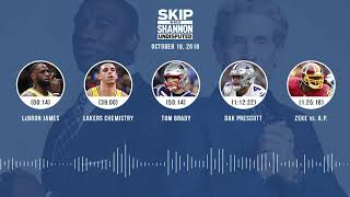 UNDISPUTED Audio Podcast (10.19.18) with Skip Bayless, Shannon Sharpe & Jenny Taft | UNDISPUTED