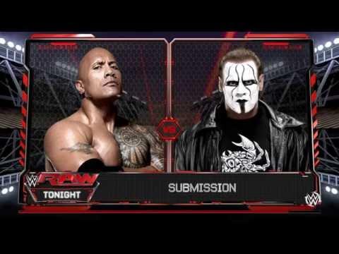 The Rock vs Sting