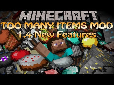 Minecraft Too Many Items Mod (1. 4. 2) TMI — Custom Enchantment and Favorite Tabs