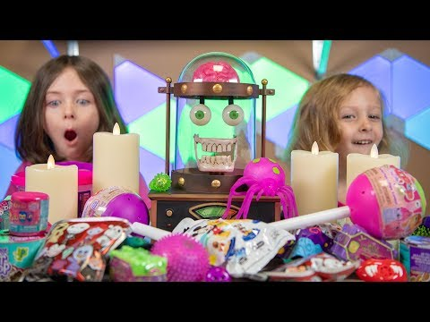 Funny Halloween Monster Toys Pink Slime Girls Surprise Toy Blind Bags & Eggs Kinder Playtime
