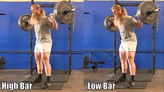 High Bar Squat / Low Bar Squat : It Doesn't Really Matter