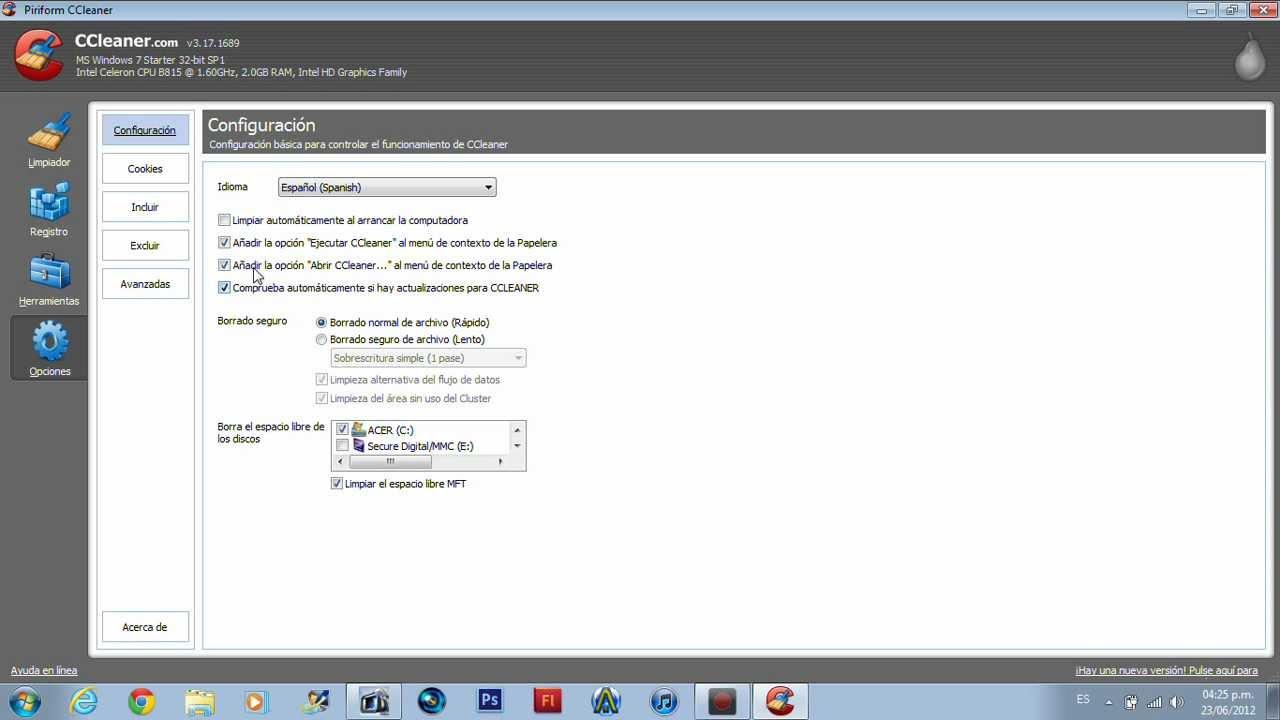Como descargar y usar ccleaner