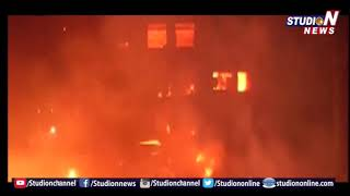 Fire Breaks Out at Kirti Nagar Furniture Market- Nearly 100 Shanties Destroyed - Delhi  - netivaarthalu.com