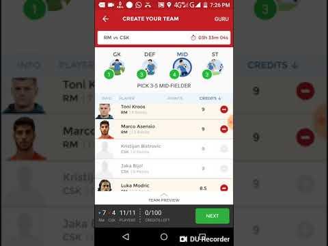 RM vs CSK Dream11 cricket match... Champion leaugh match...