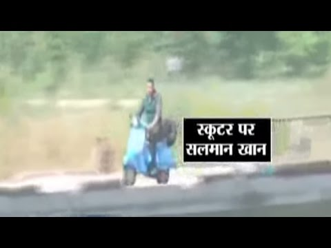Salman Khan shoots for 'Sultan' in Muzaffarnagar, seen riding a scooter