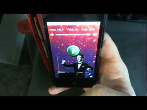 Theremin - iPhone Music App Demo & Review - Theramin Scary Movie Horror Sound FX