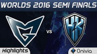 SSG vs H2K Highlights Game 1 Worlds 2016 Semi Finals Samsung Galaxy vs H2K Gaming
