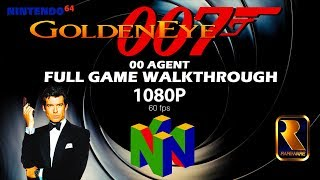 GoldenEye 007 N64 - 00 Agent - Full Game Walkthrough!