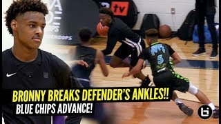 Bronny James BROKE The Defender's ANKLES BAD!! Blue Chips vs FORMER TEAMMATE!!