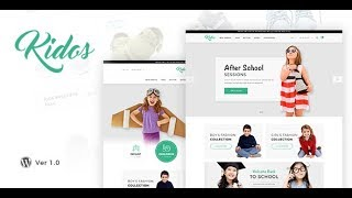 Demo Content Import┇ Kidos ┇ Kids Clothing WooCommerce Theme