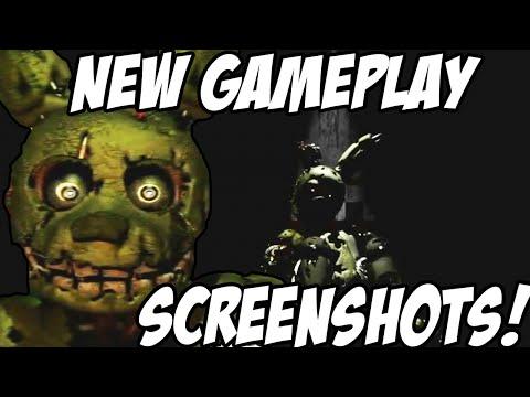 Five Nights At Freddys 3: NEW GAMEPLAY SCREENSHOTS! System Restart? Camera Secret!
