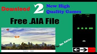 Download 2 High Quality .AIA File Free | AIA Of Space Invaders and Ultimate Fokker Fighter | 2018