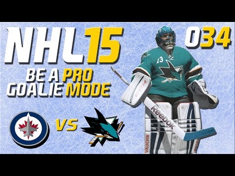 NHL 15 Torhütermodus [Be A Pro] #034 - Winnipeg Jets - San Jose Sharks ★ Let's Play NHL 15 Be a Pro