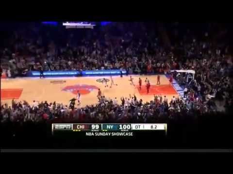 Carmelo Anthony beat the buzzer beater in OT vs Bulls