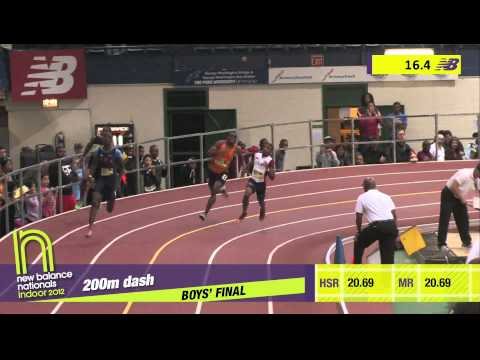 B 200 F02 (Bailey 21.07 * Meet Record, HS Indoor Nationals 2012)