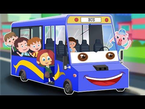 Wheels On The Bus | Schoolies  Cartoon Video For Children | Nursery Rhymes by Kids Channel