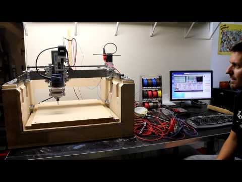 Home Built CNC Router - Test Run with G Code