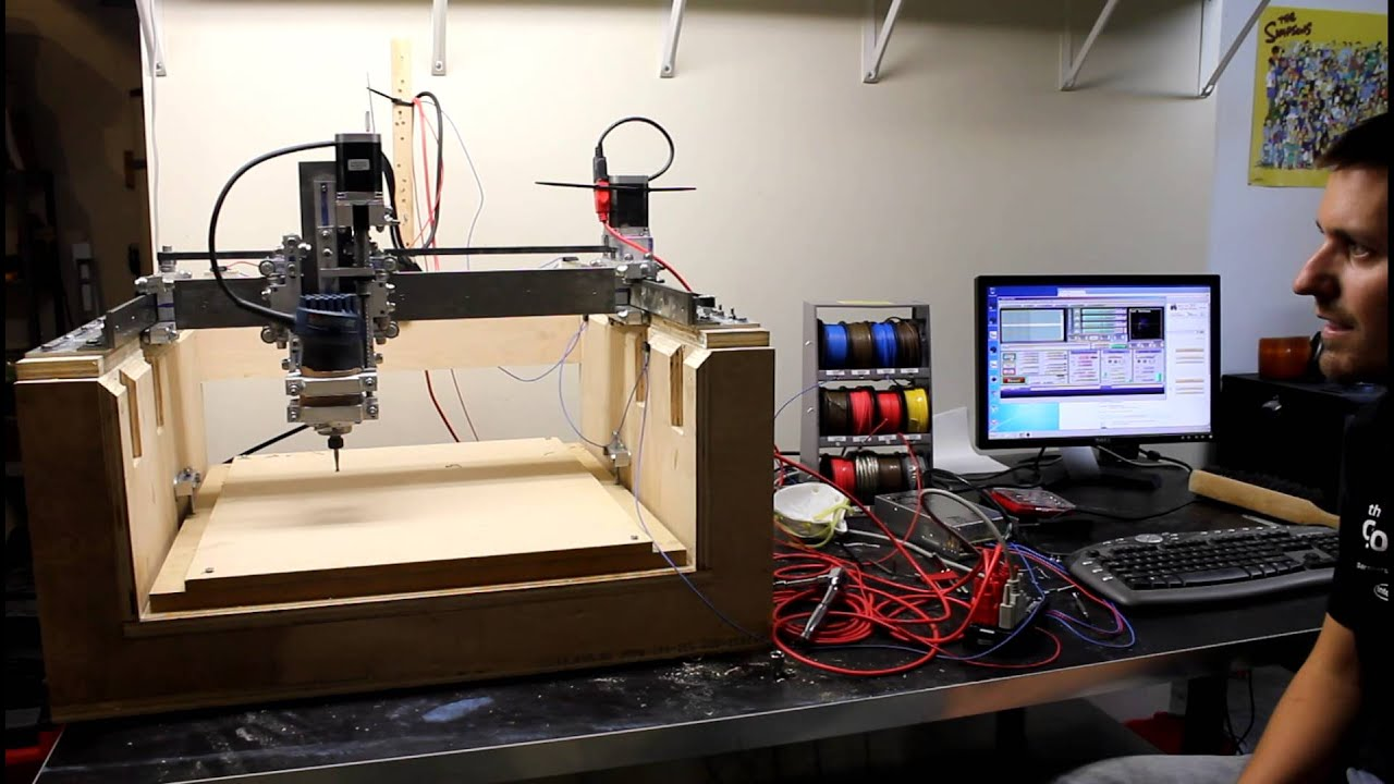 Home built cnc router test run with g code youtube for Home built router