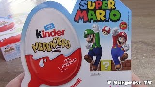 8 Super Mario Bros Kinder JOY Surprise | Huevos Oeufs Ovetti sorpresa Kinder merendero 2016 スーパーマリオ