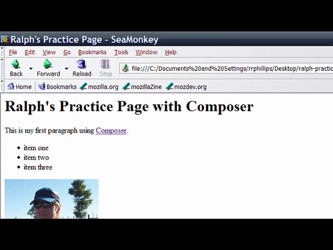 Use Mozilla/SeaMonkey Composer to Make Web Pages