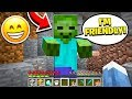 FINDING THE ONLY FRIENDLY ZOMBIE IN MINECRAFT!