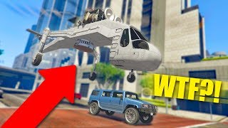 EXTREME CARGOBOB TROLLING PRANK! *SHE WAS SO CONFUSED!* | GTA 5 Funny Moments