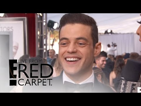 Rami Malek Sends Mom a Birthday Wish on SAG Red Carpet | Live From the Red Carpet | E! News