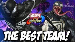 "Venom & Black Suit Spiderman Team Up! - Marvel Vs Capcom Infinite: ""Venom"" & ""Spiderman"" Gameplay"