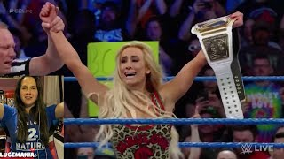 WWE Smackdown 4/10/18 Carmella MITB cash in