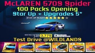 Asphalt 9 | McLAREN 570S Spider | Star Up / Upgrades 4-5⭐️ | Test Drive @WILDLANDS