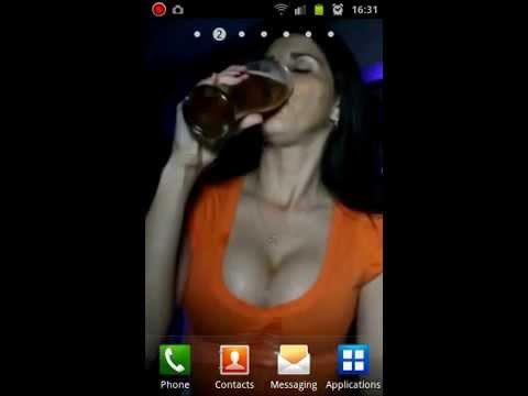 Big Boobs And Beer (android Live Wallpaper) video