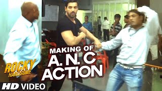 ANC Police Station Action (Making) | Rocky Handsome | John Abraham, Nishikant Kamat | T-Series