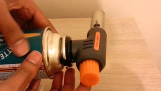 Blow Torch with auto start ignition. Butane / propane gas flame thrower from Banggood.