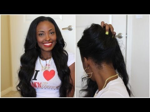 Installing My Versatile U-Part Wig: Candy Jewels Hair Malaysian Wavy