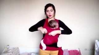 Wrap Sling Kangulu - Como vestir seu bebê