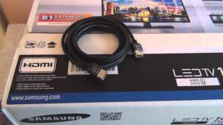 Samsung 19in LED TV Unboxing