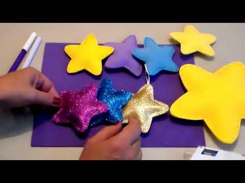 COMO HACER ESTRELLAS 3D en FOAMY o GOMA EVA / FOAMY STARS DIY (with English translation)