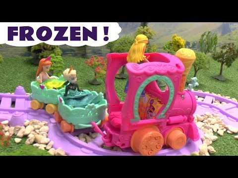 Princess Ariel Mermaid Barbie Play Doh Frozen Queen Elsa Princess Anna Story My Little Pony Castle video