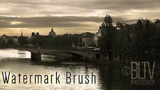 Photoshop Tutorial: How to Quickly Create a Customized Watermark Brush
