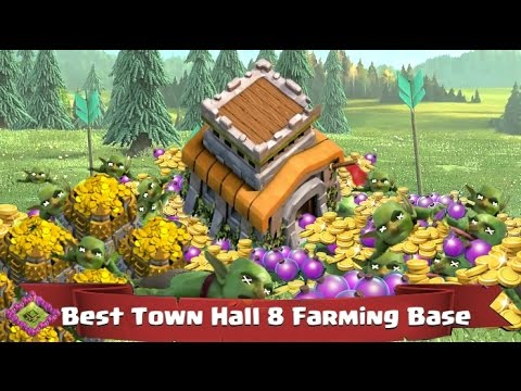 Clash of Clans Best Town Hall 8 Farming Bases!