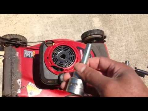 DIY Electric Drill Start for a Lawnmower