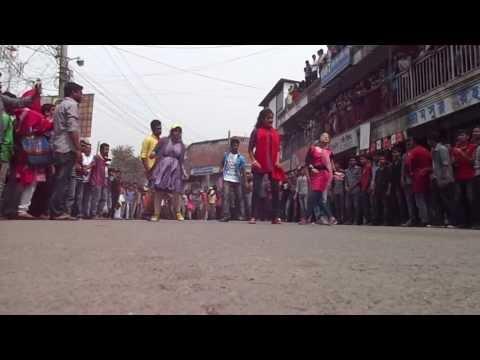 ICC WORLD T20 Bangladesh 2014   Flash Mob Mawlana Bhashani Science & Technology University