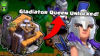 UNLOCKING THE GLADIATOR QUEEN IN BUILDER BASE! - Clash of Clans