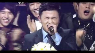 [110930] Huh Gak WIN + Super Junior Celetion + Kyuhyun Sing Hello(Huh Gak Song) @Music Bank