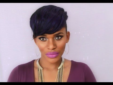 INSTANT FAB FRINGE SHAVED SIDES SHORT HAIRSTYLE   NO GLUE NO SEW-IN NO LEAVE OUT!